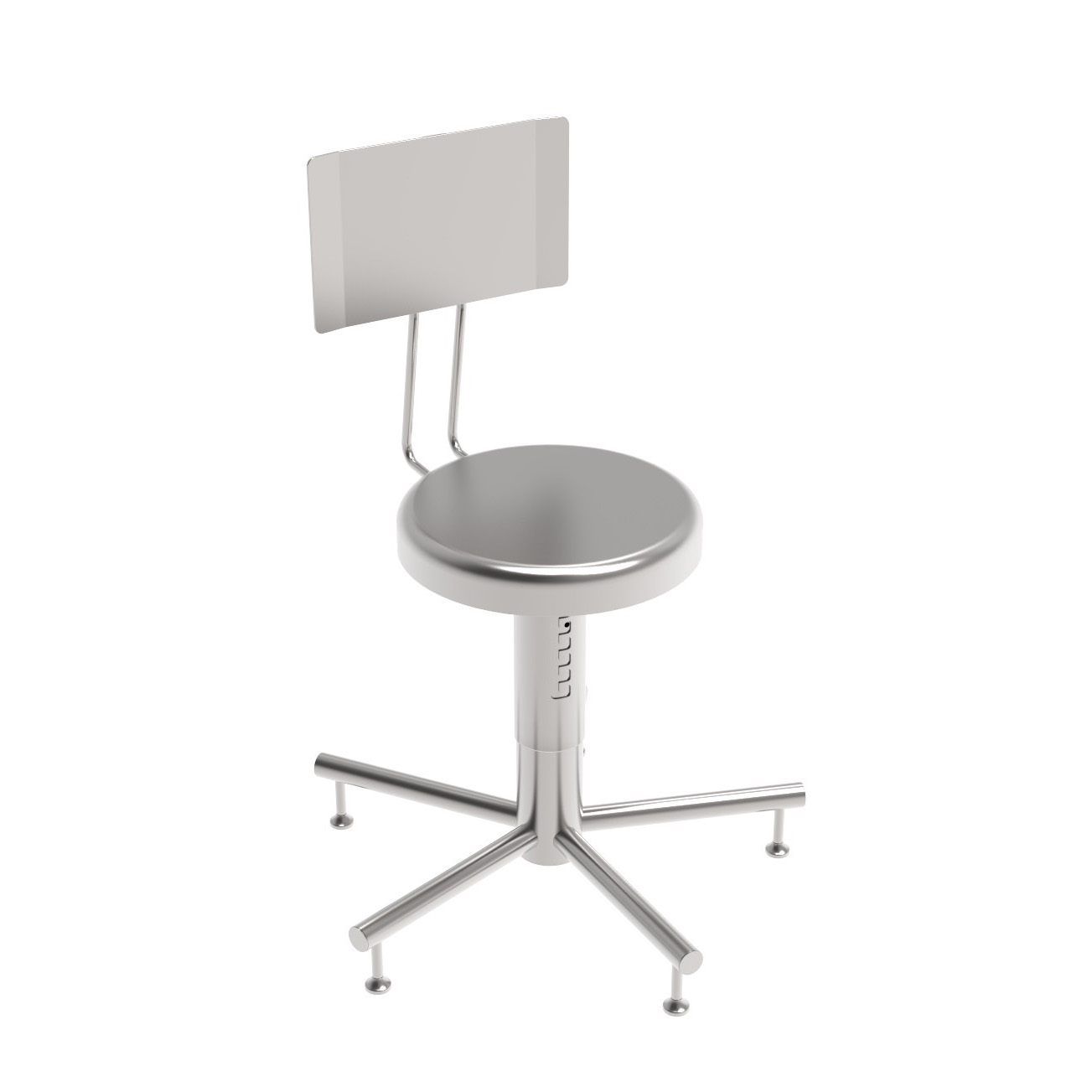 Stool On Feet With Backrest Cleanroom Components